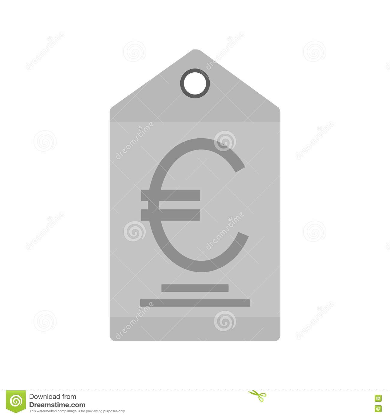 Euro Tag stock vector  Illustration of price, label, economy