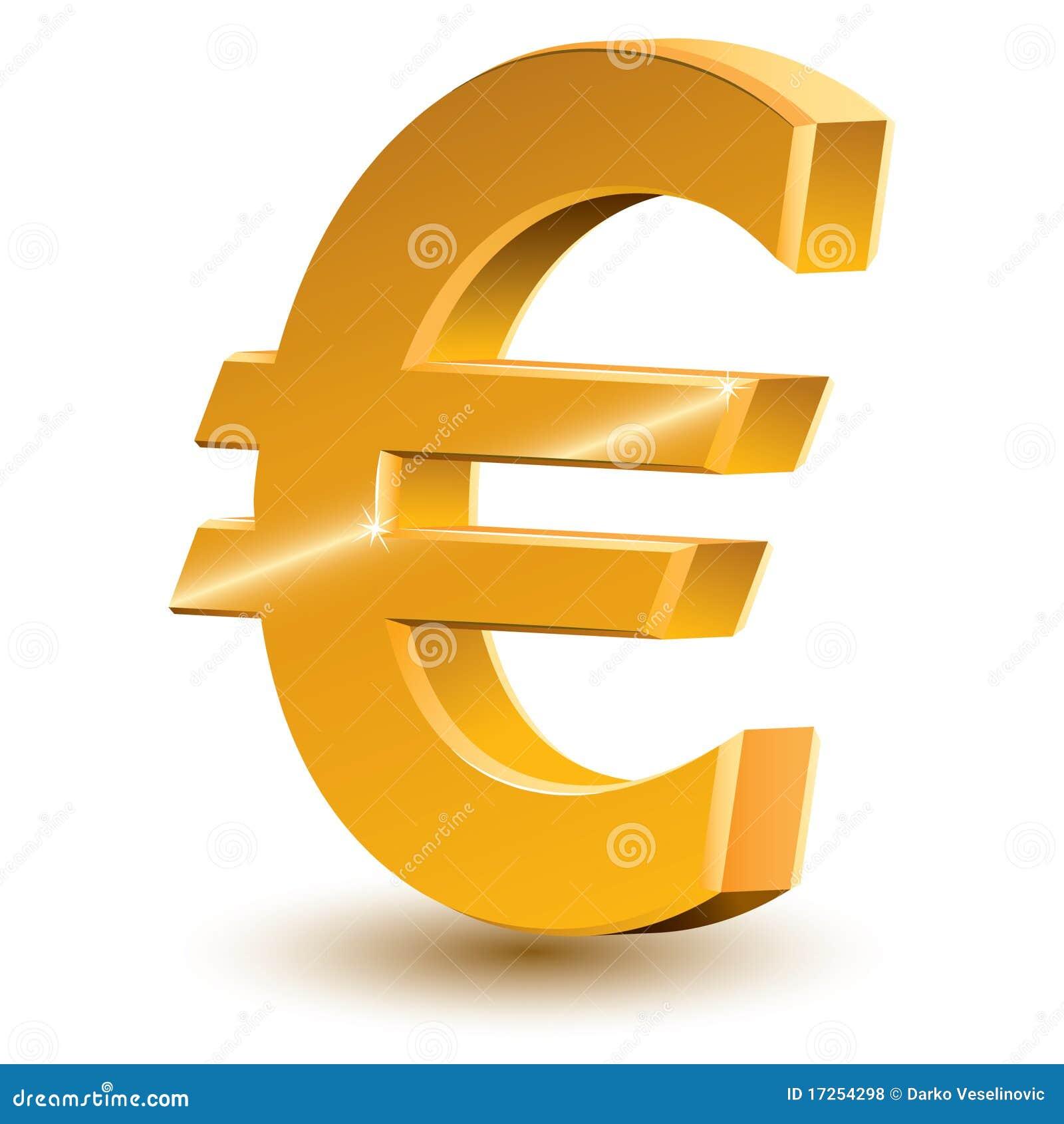 Euro Teken Royalty-vrije Stock Foto's - Afbeelding: 17254298