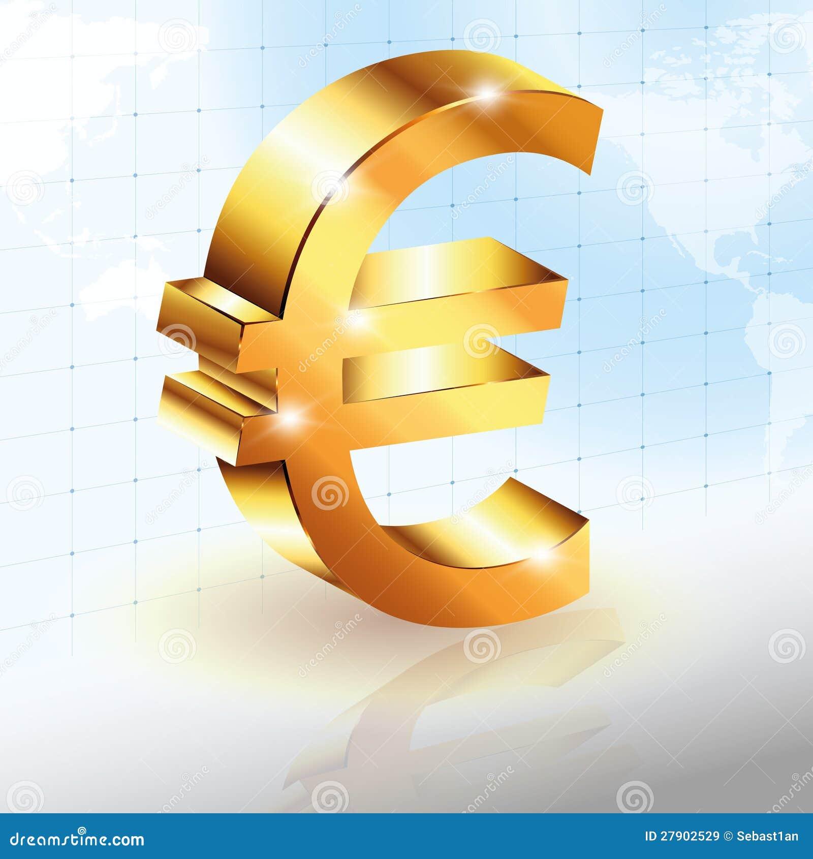 Euro Teken Royalty-vrije Stock Afbeeldingen - Afbeelding: 27902529