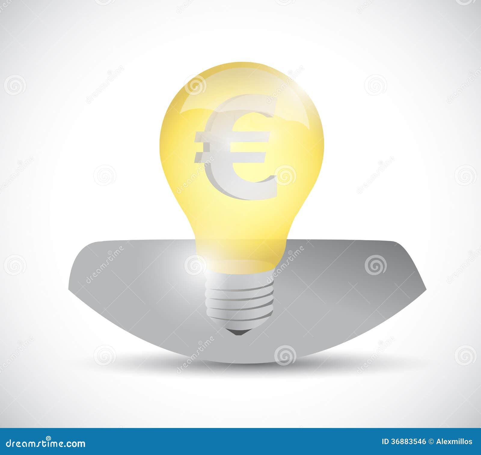 Download Euro Testa Della Lampadina Di Valuta. Progettazione Dell'illustrazione Illustrazione di Stock - Illustrazione di direzione, cavo: 36883546