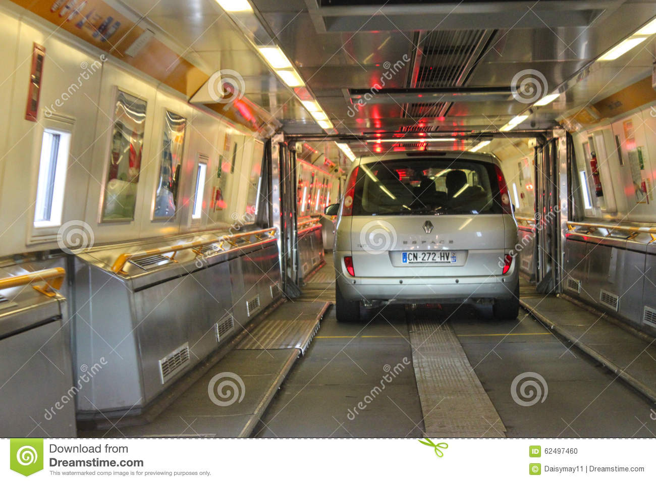 Euro Tunnel Train Editorial Image Image Of Immigrants 62497460