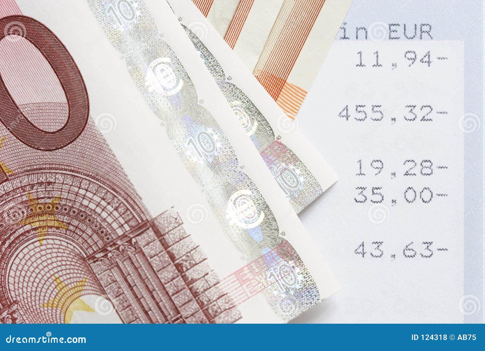 Euro und Kontoanweisungen