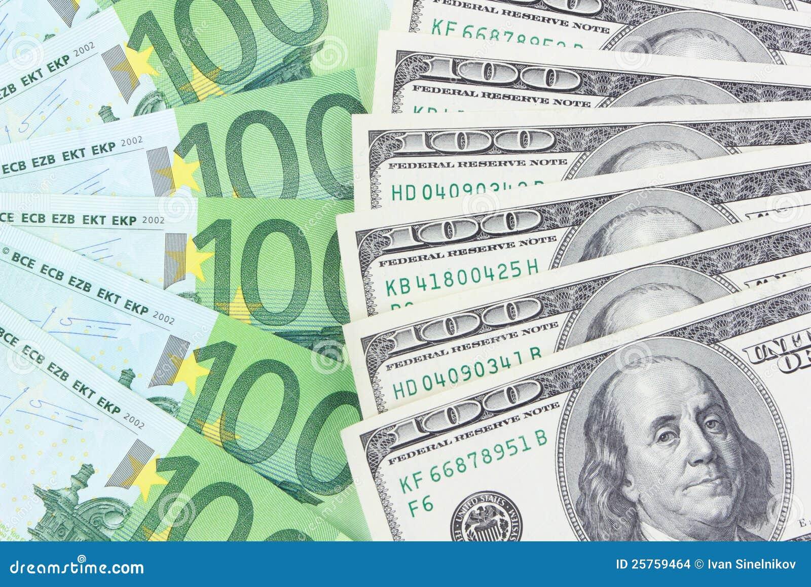 euro vs dollar stock photo image of market change dollar 25759464. Black Bedroom Furniture Sets. Home Design Ideas