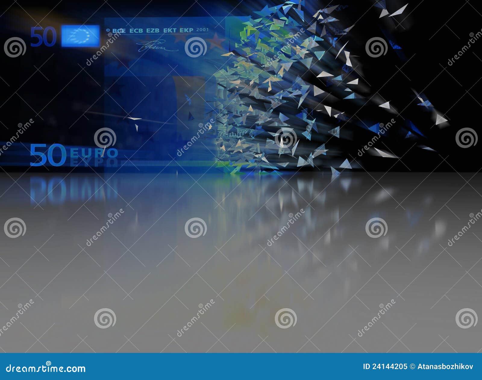 Eurobrechen 50 - abstrakter Hintergrund