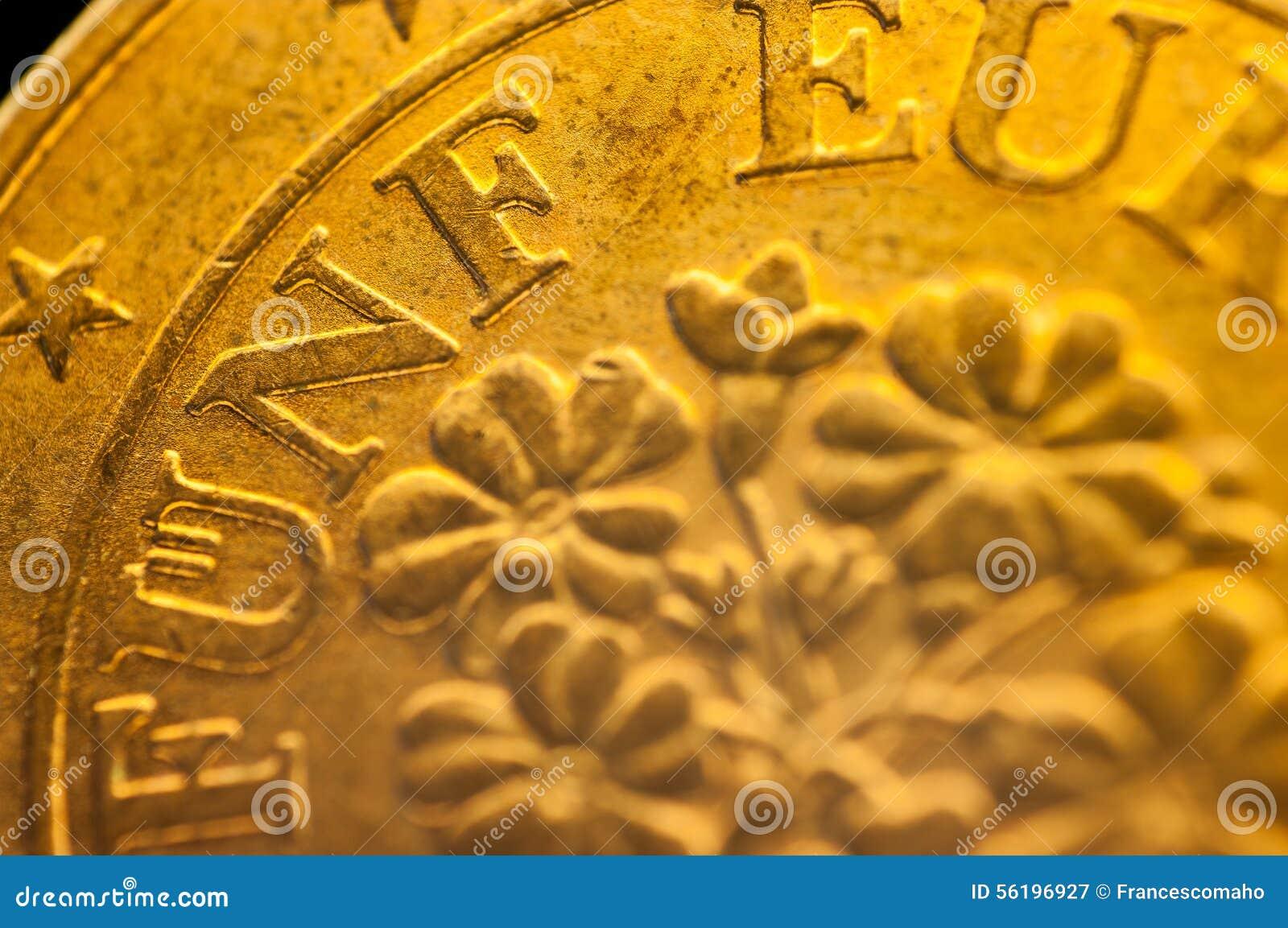 Eurocent Fünf Funf österreichische Euromünze Stockbild Bild Von