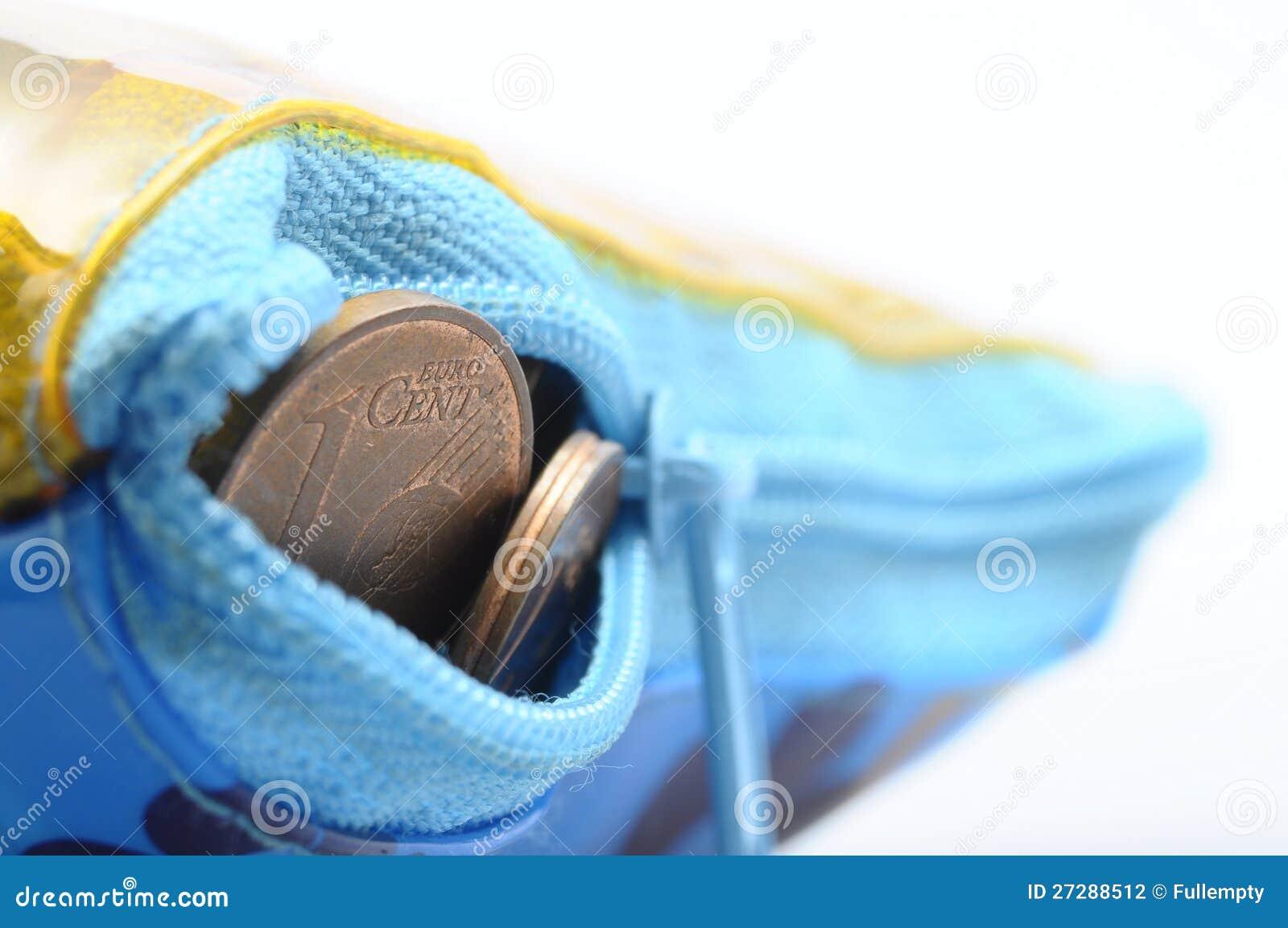 Eurocentmynt i plånbok