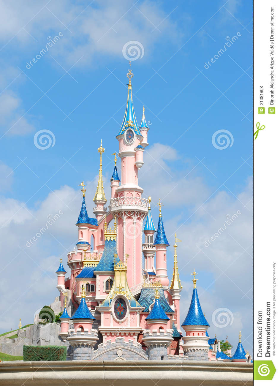 Eurodisney Castle Editorial Stock Photo - Image: 21381908