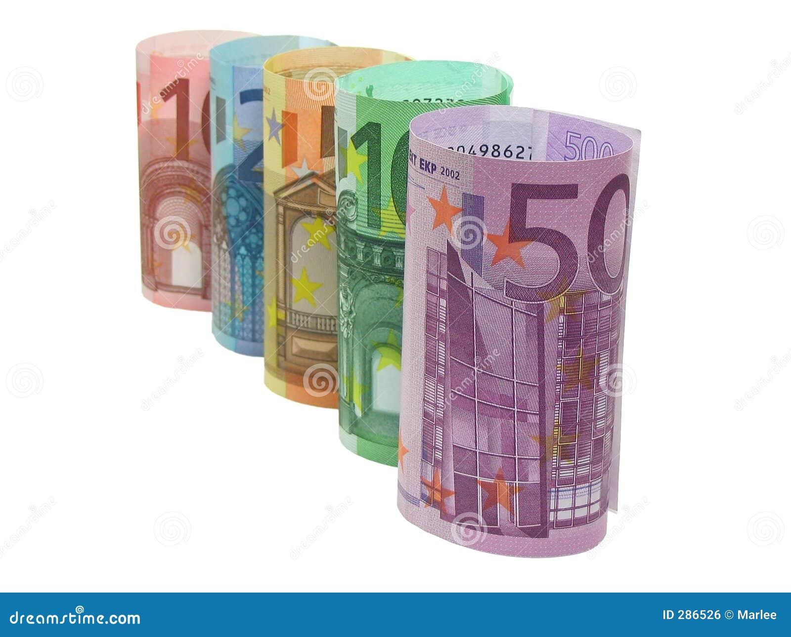 Euroen bemärker rad