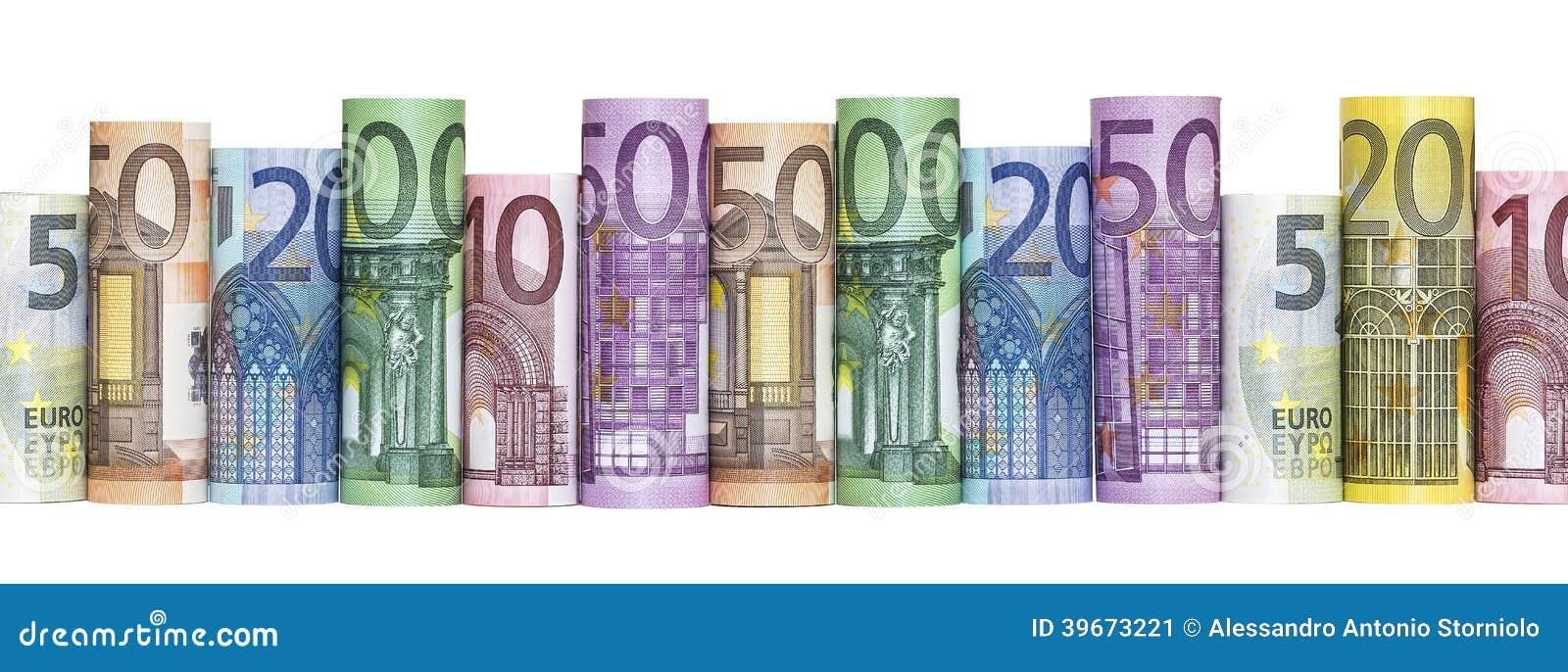 Eurogeld-Banknoten