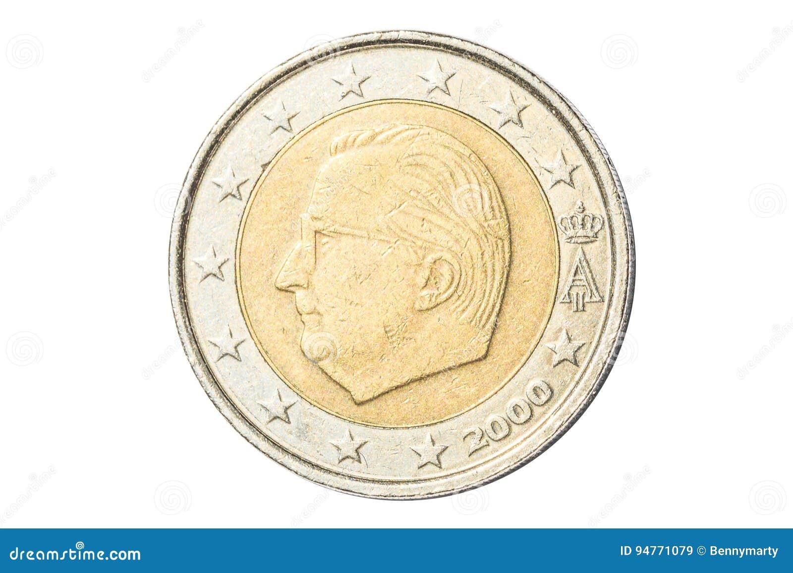 Euromünze des Belgiers zwei