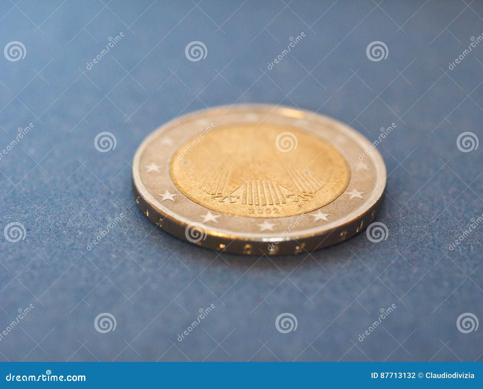 1 Euromünze Europäische Gemeinschaft Deutschland über Blau