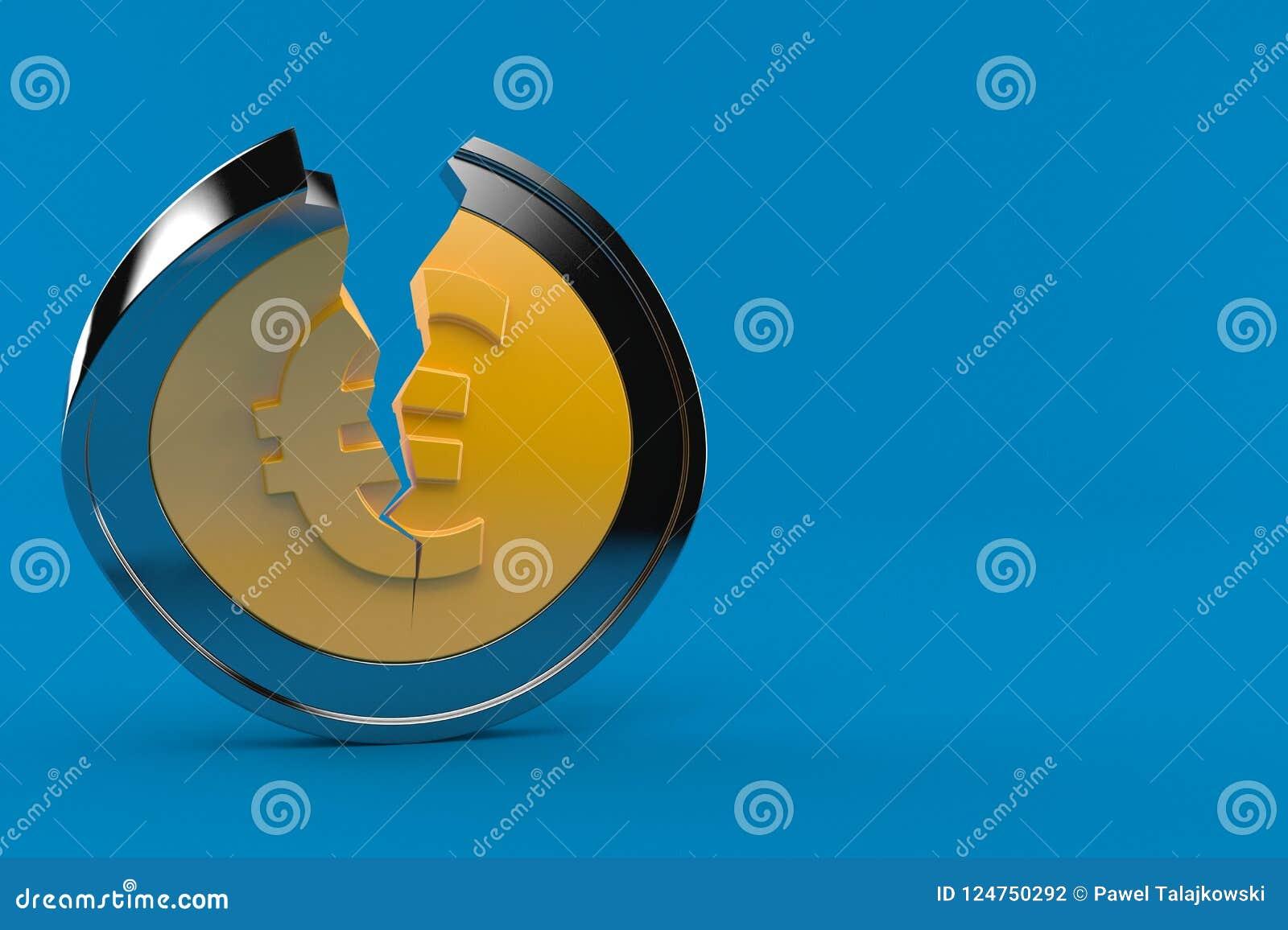 Euromünze gebrochen