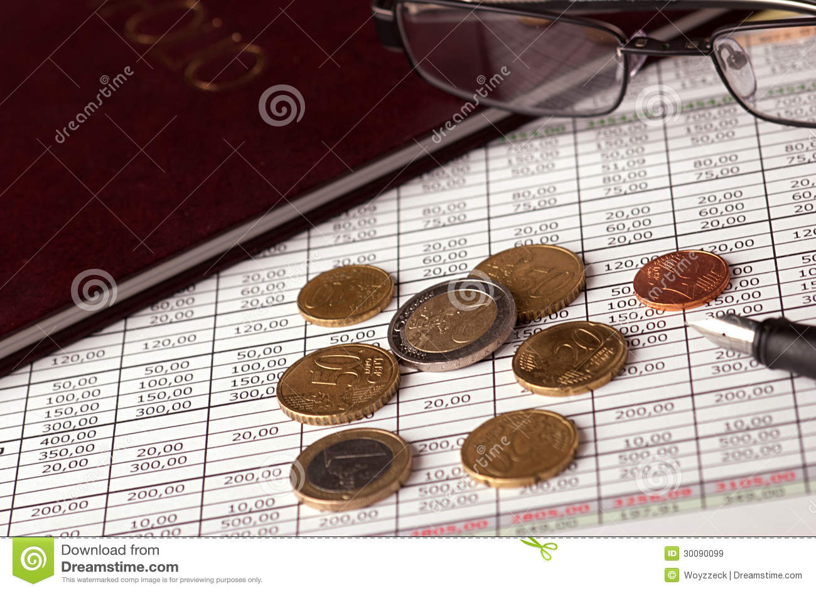 Euromünzen Und Gläser Stockbild Bild Von Schlecht Reichtum 30090099