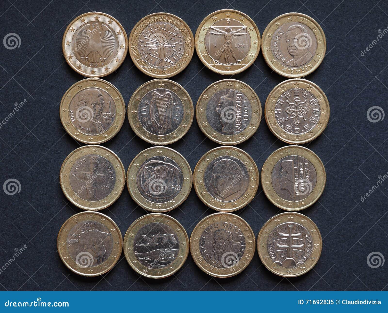Euromünzen Vieler Länder Stockbild Bild Von Französisch 71692835