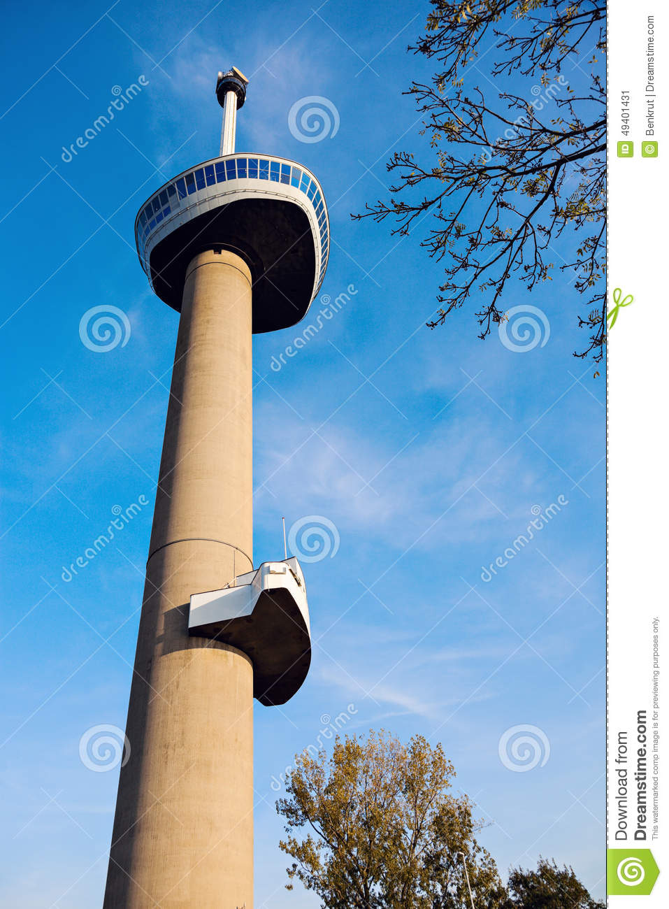 Download Euromast stockbild. Bild von downtown, rotterdam, skyline - 49401431