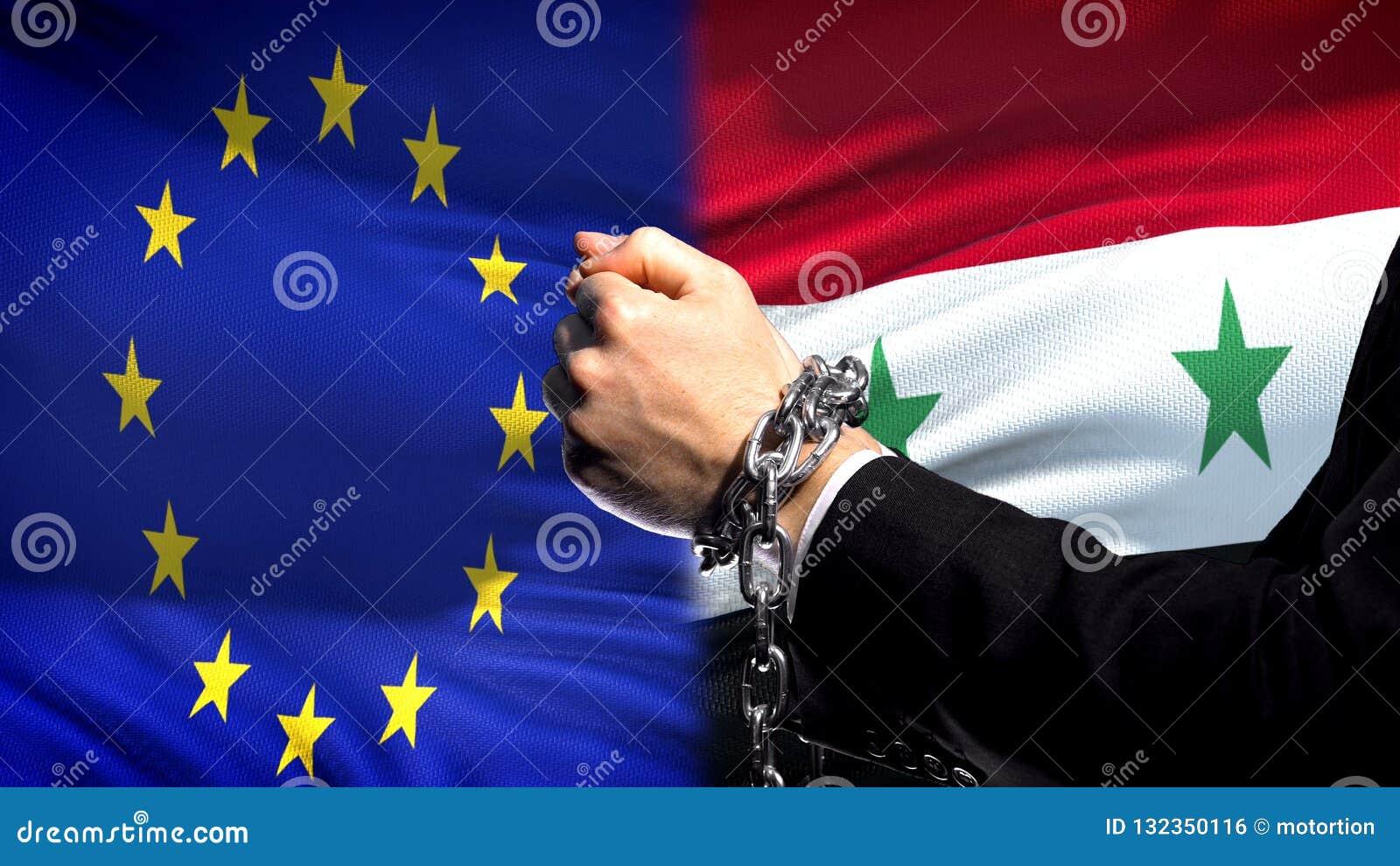 Europäische Gemeinschaft sanktioniert Syrien, verketteten Arm-, politischen oder wirtschaftlichenkonflikt