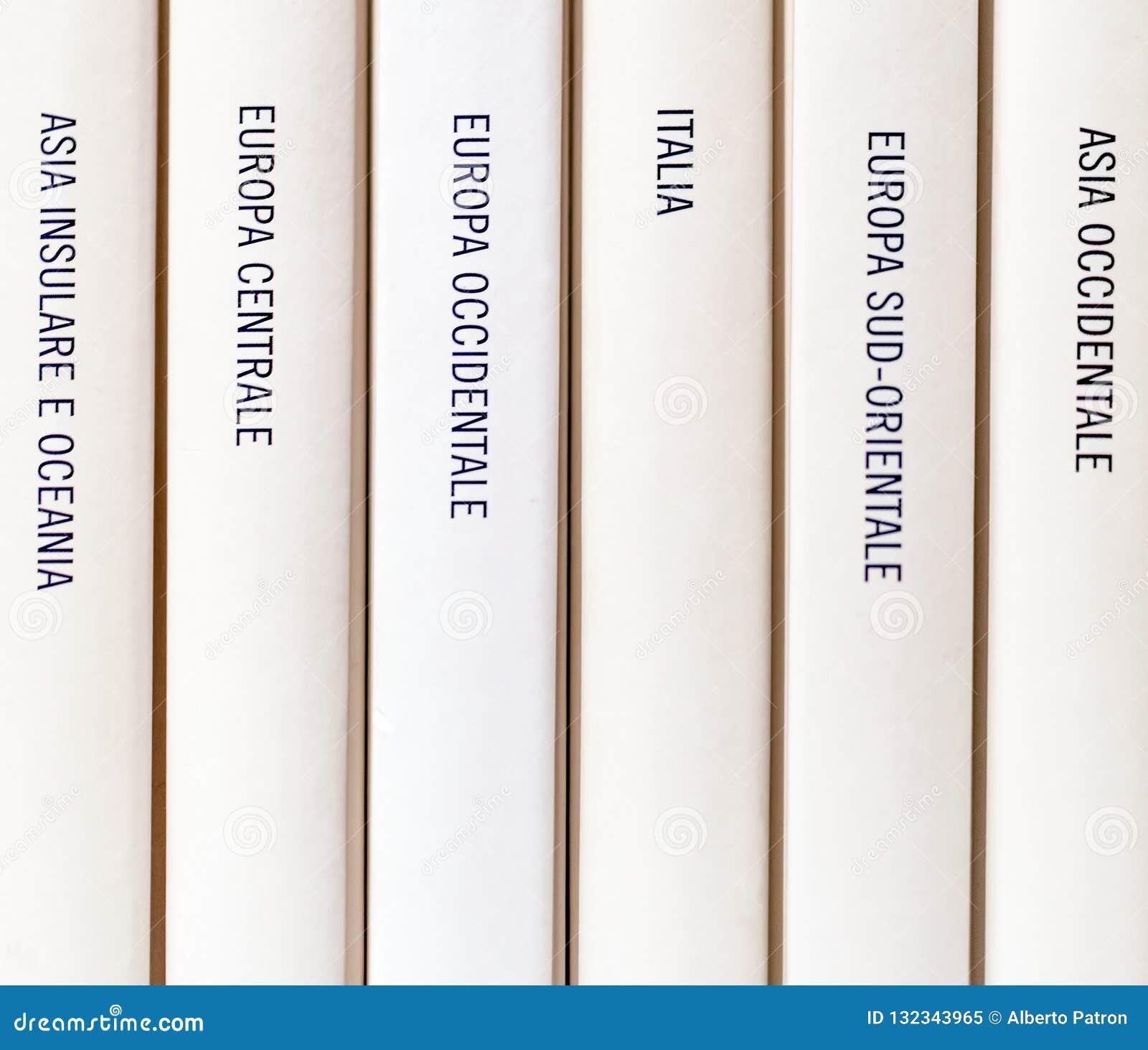 Europäische Geografie geschrieben auf ein Buch