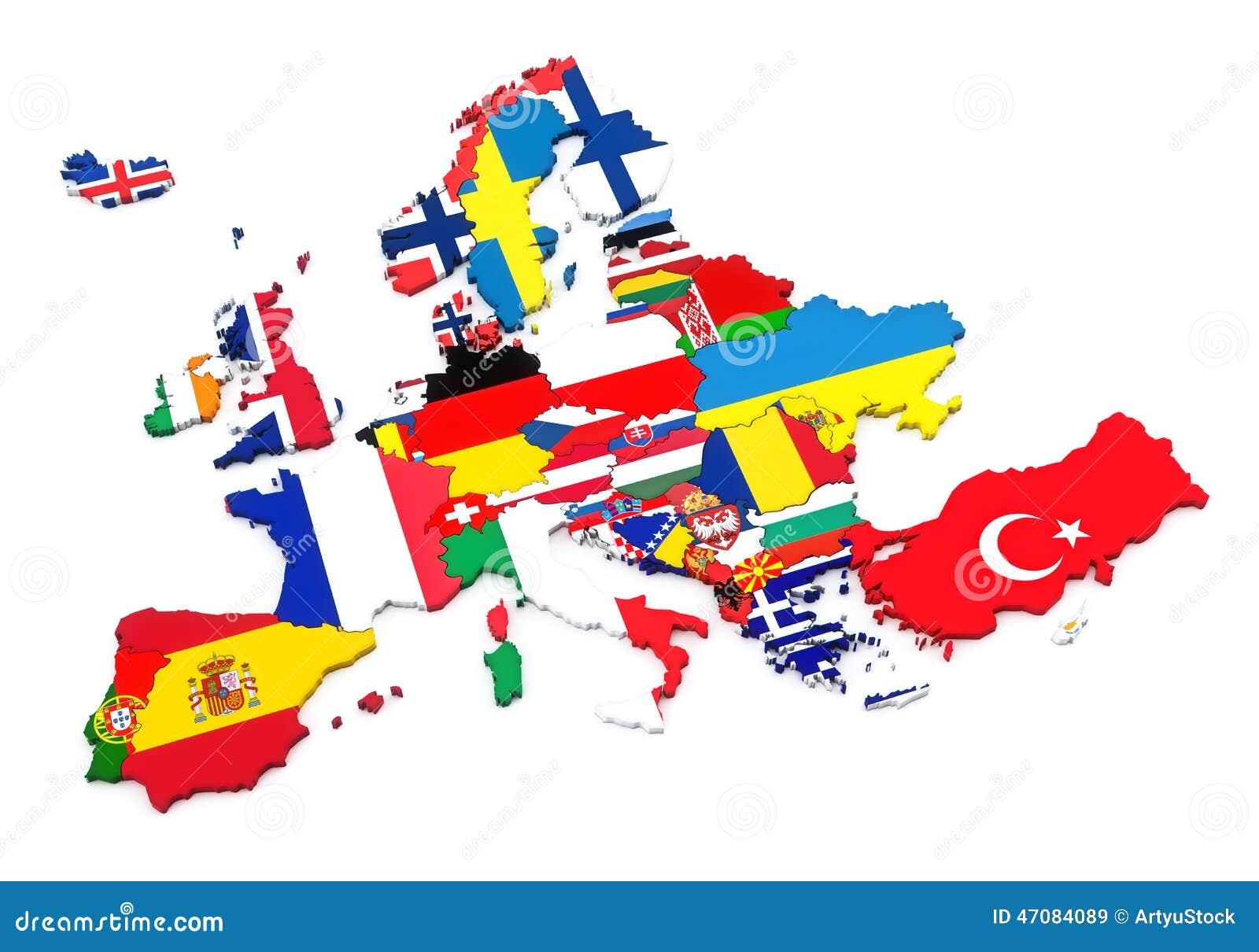 europ228ische l228nder stock abbildung illustration von