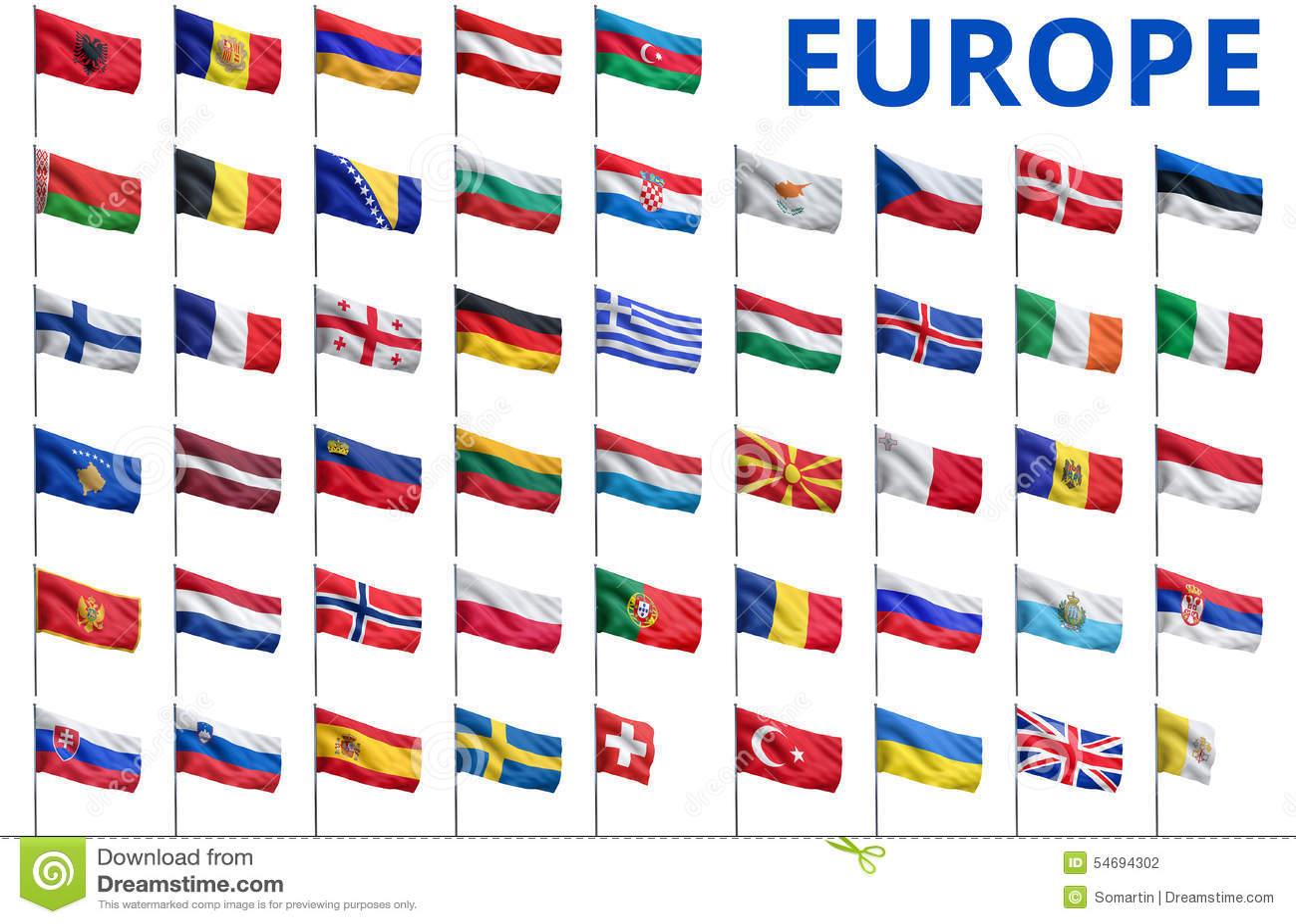 Ongekend Europa - Alle Vlaggen Van Landen Stock Illustratie - Illustratie KN-71