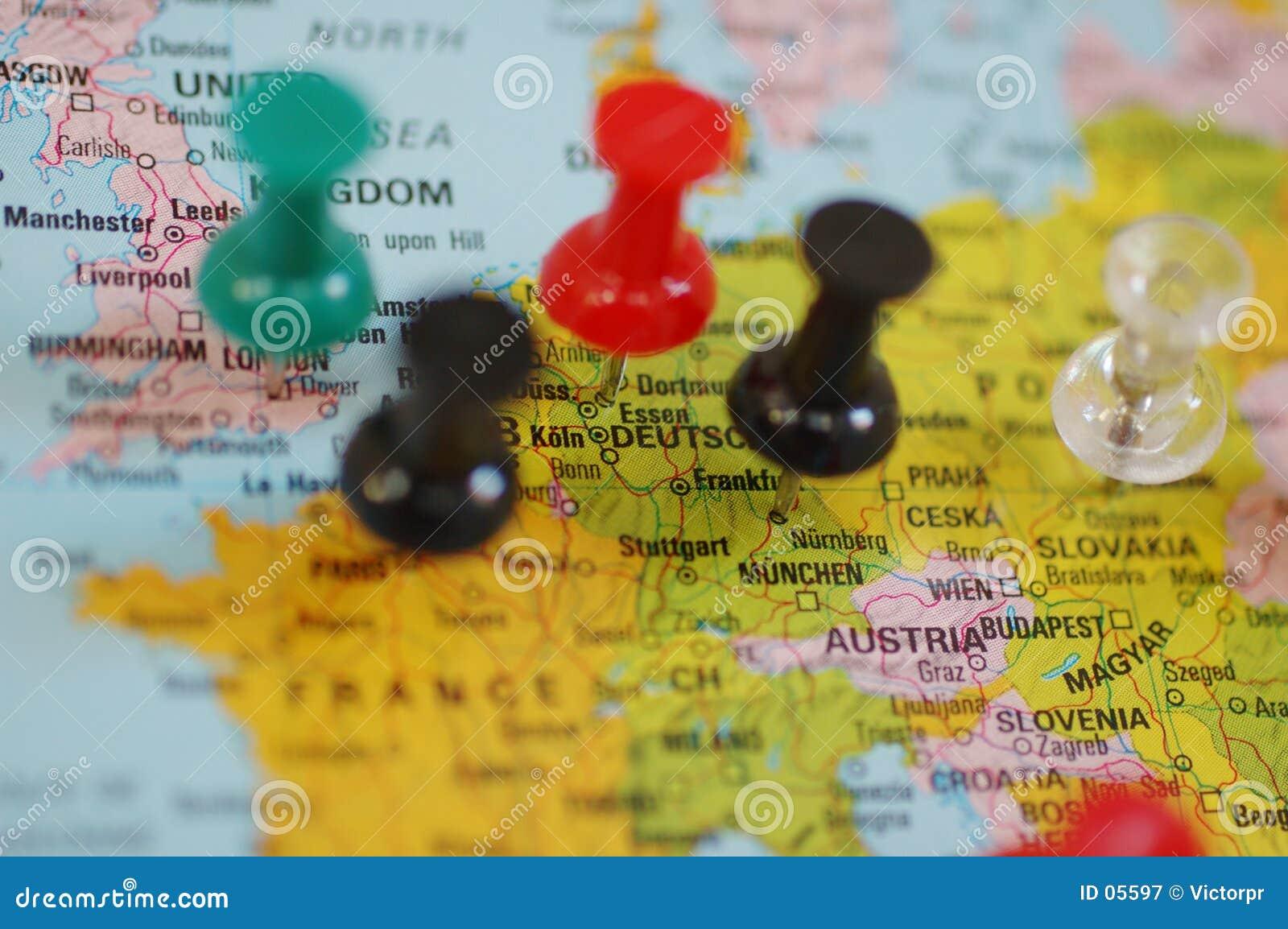 Europa auf Karte