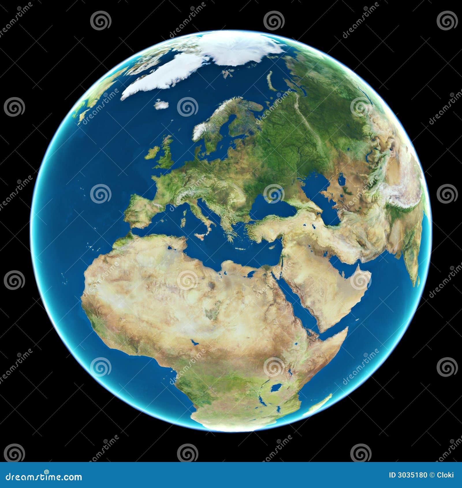Europa auf Planet Erde