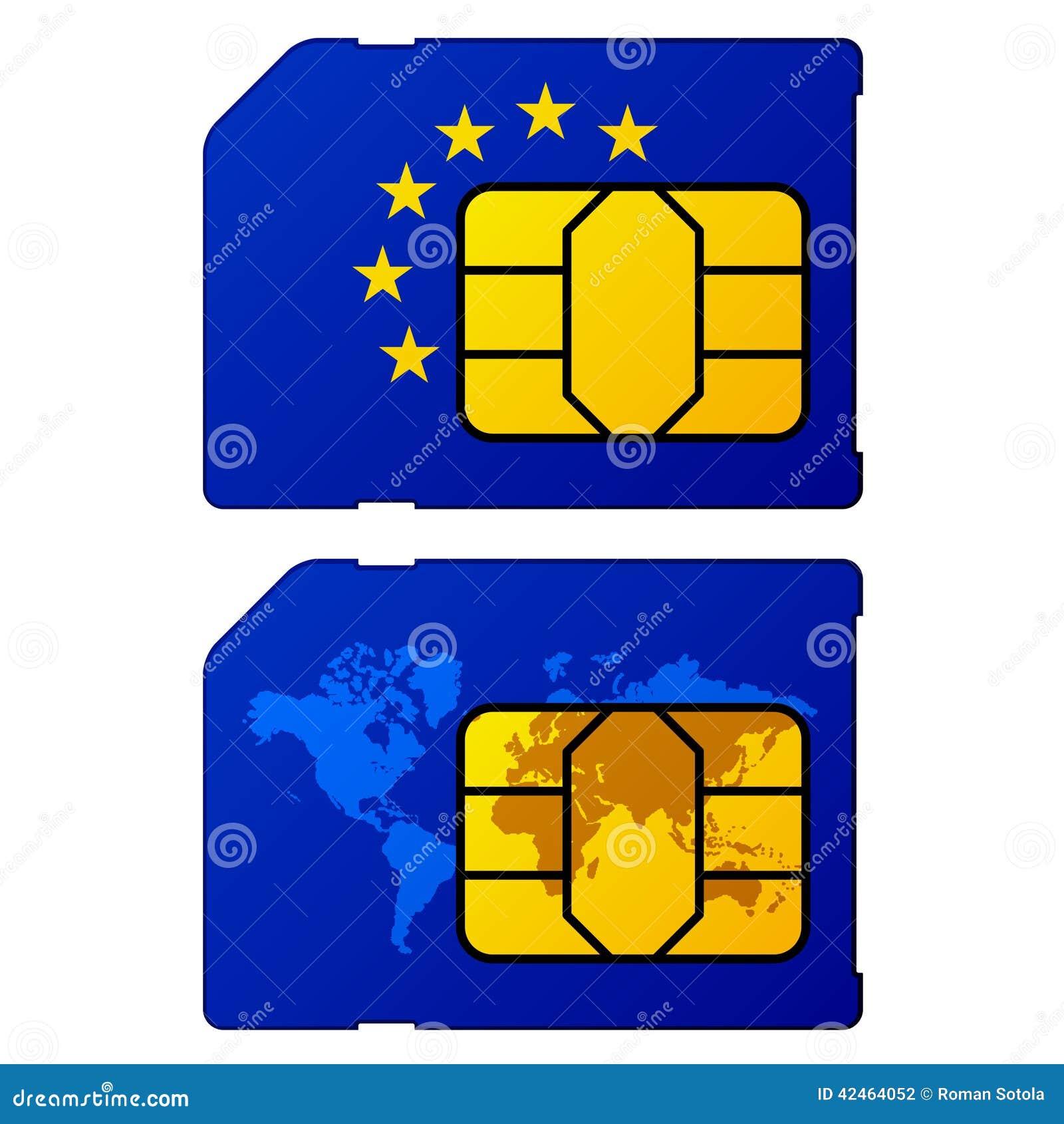 Europa-Flaggenweltkartesim-karte