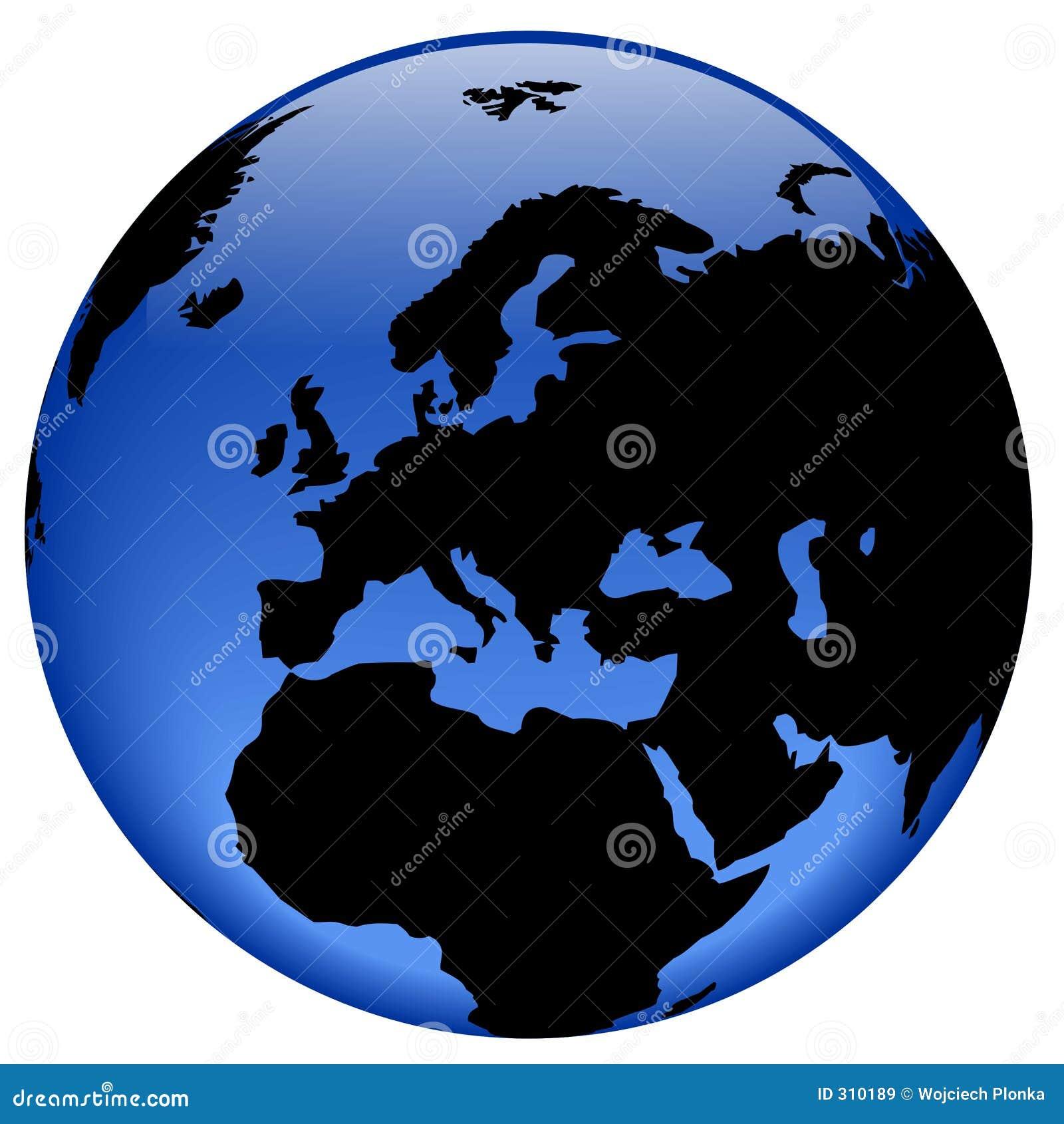 Europa jordklotsikt