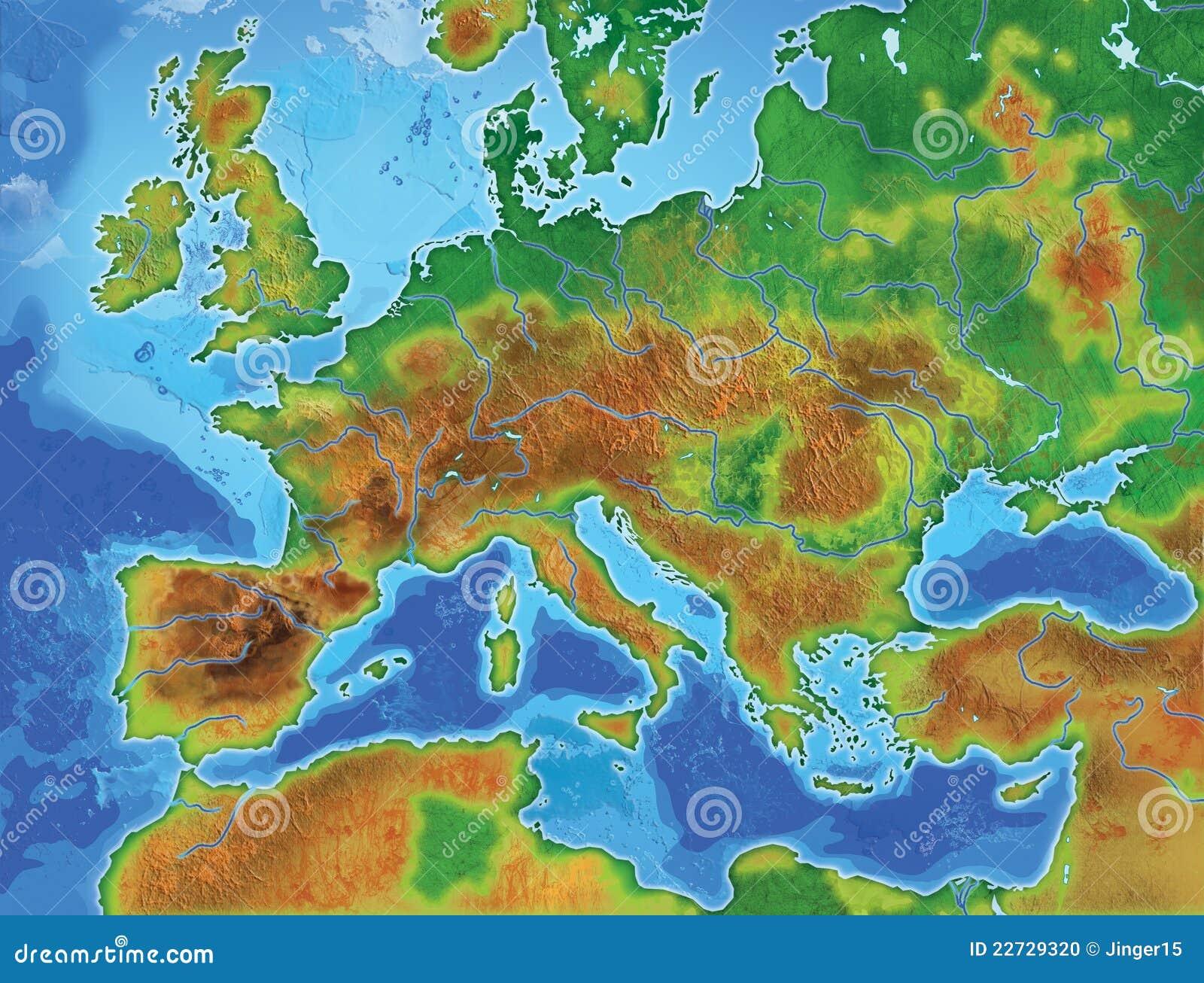 Europa Karte Stock Abbildung Illustration Von Insel 22729320