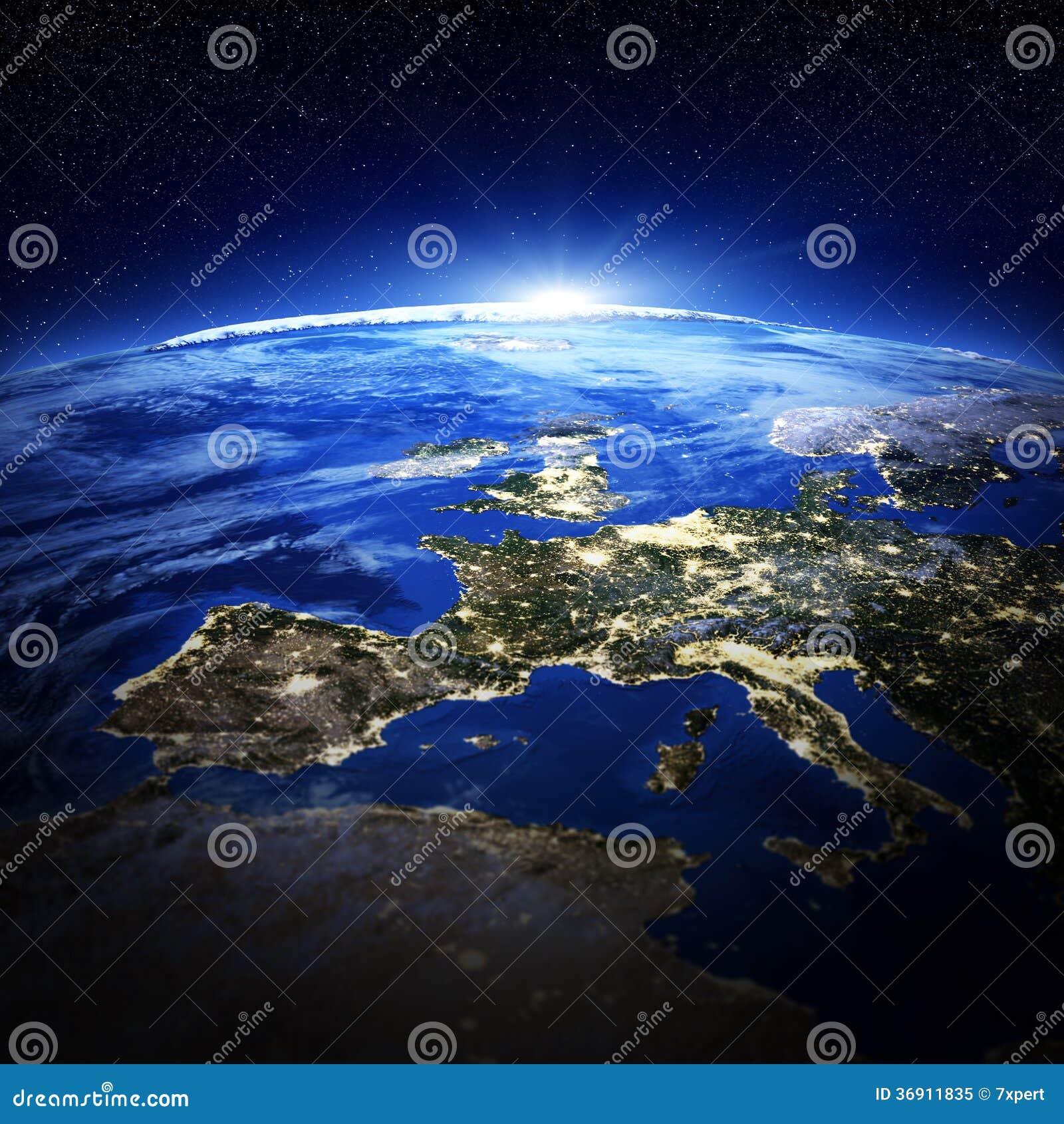 Europa miasta światła