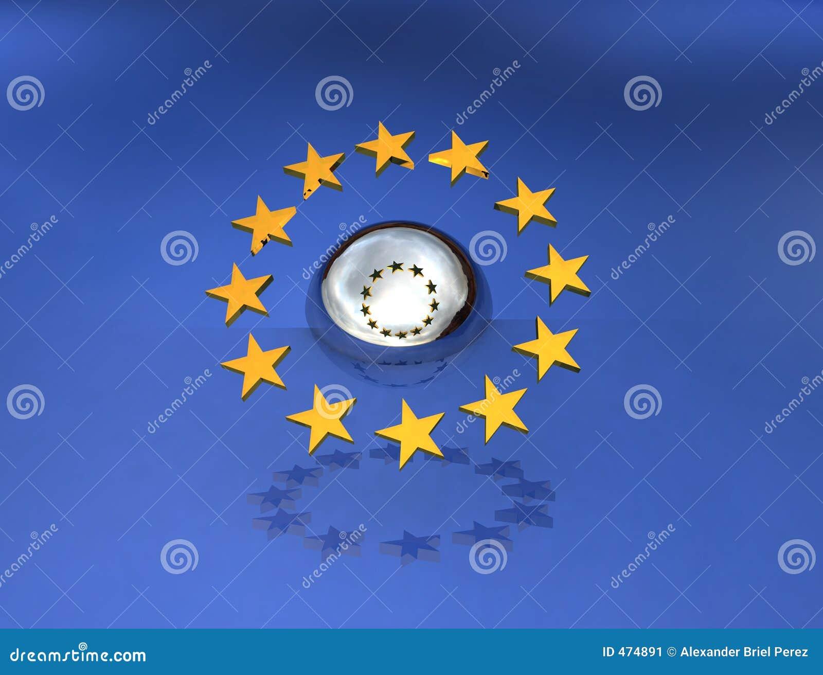 Europa over een gebied