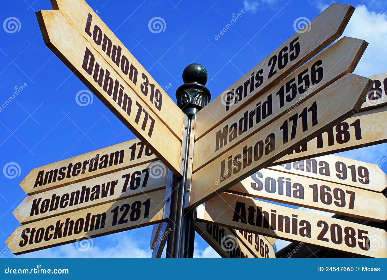 europa stadt reise zeichen stockfoto bild von kompa 24547660. Black Bedroom Furniture Sets. Home Design Ideas