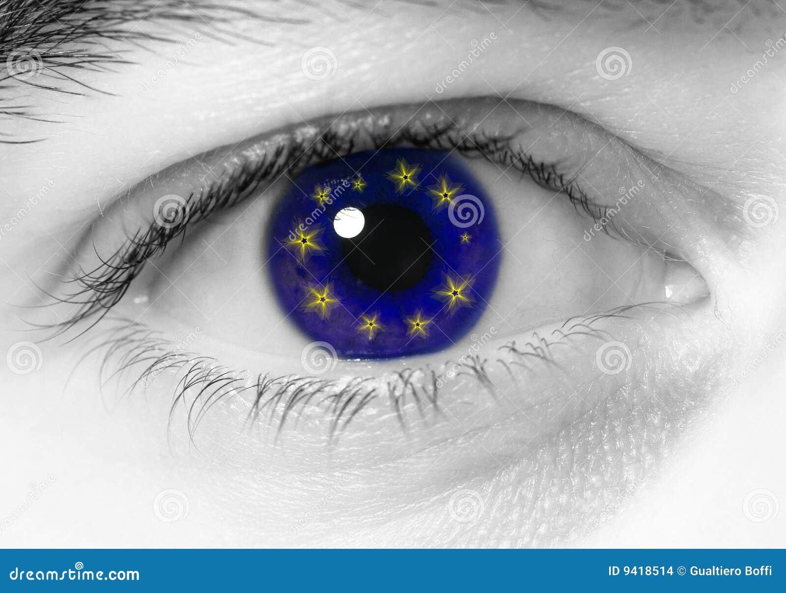 Europa van het oog vlag