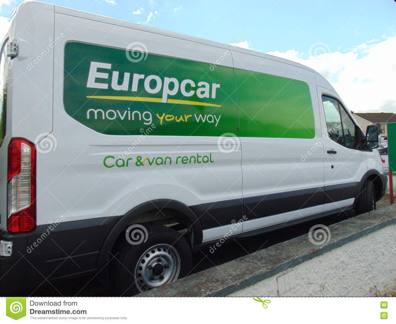 ed28b22a086bb0 Europcar Van editorial stock photo. Image of irish