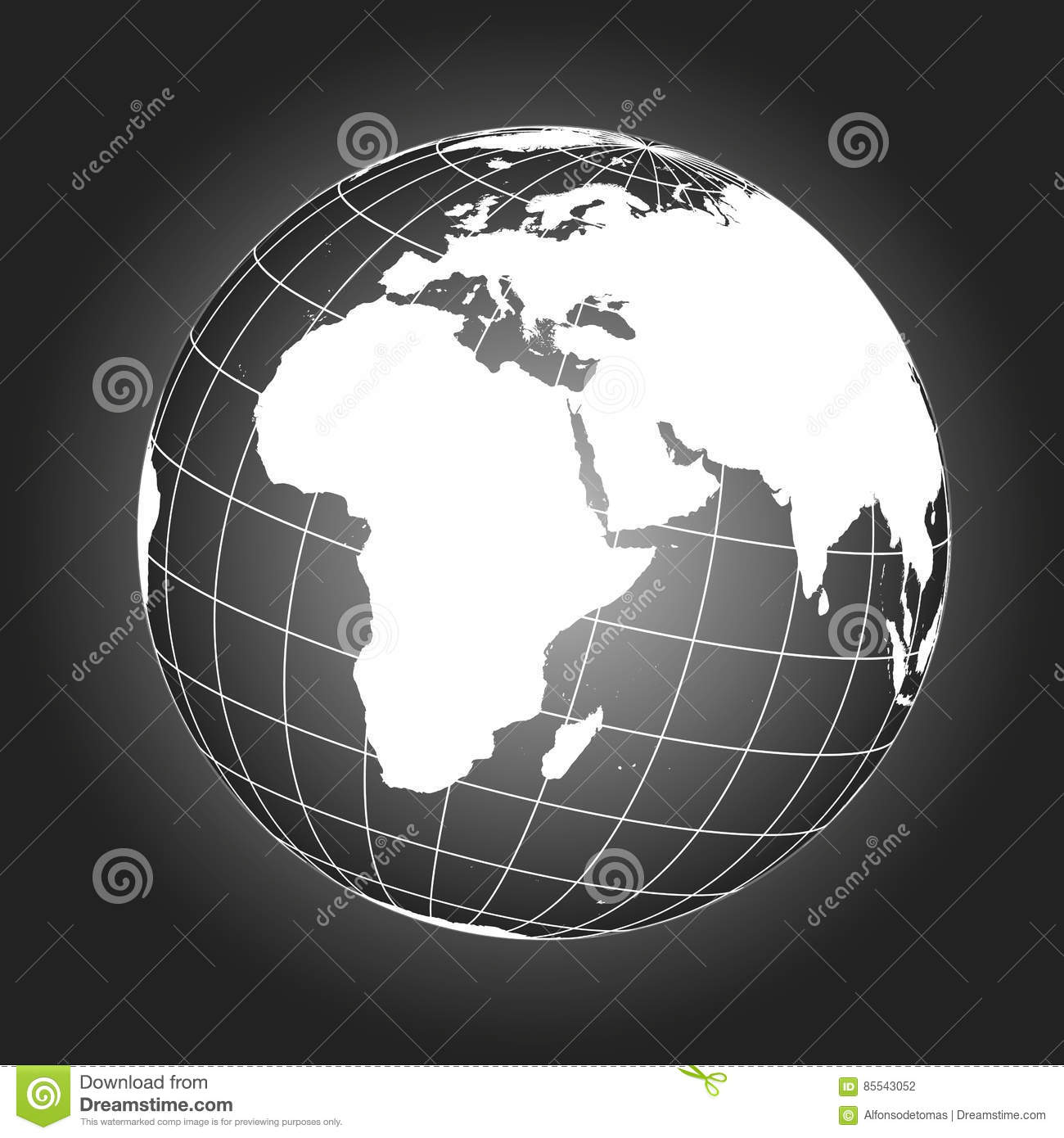 Europe and africa map in black and white stock vector illustration download comp gumiabroncs Choice Image