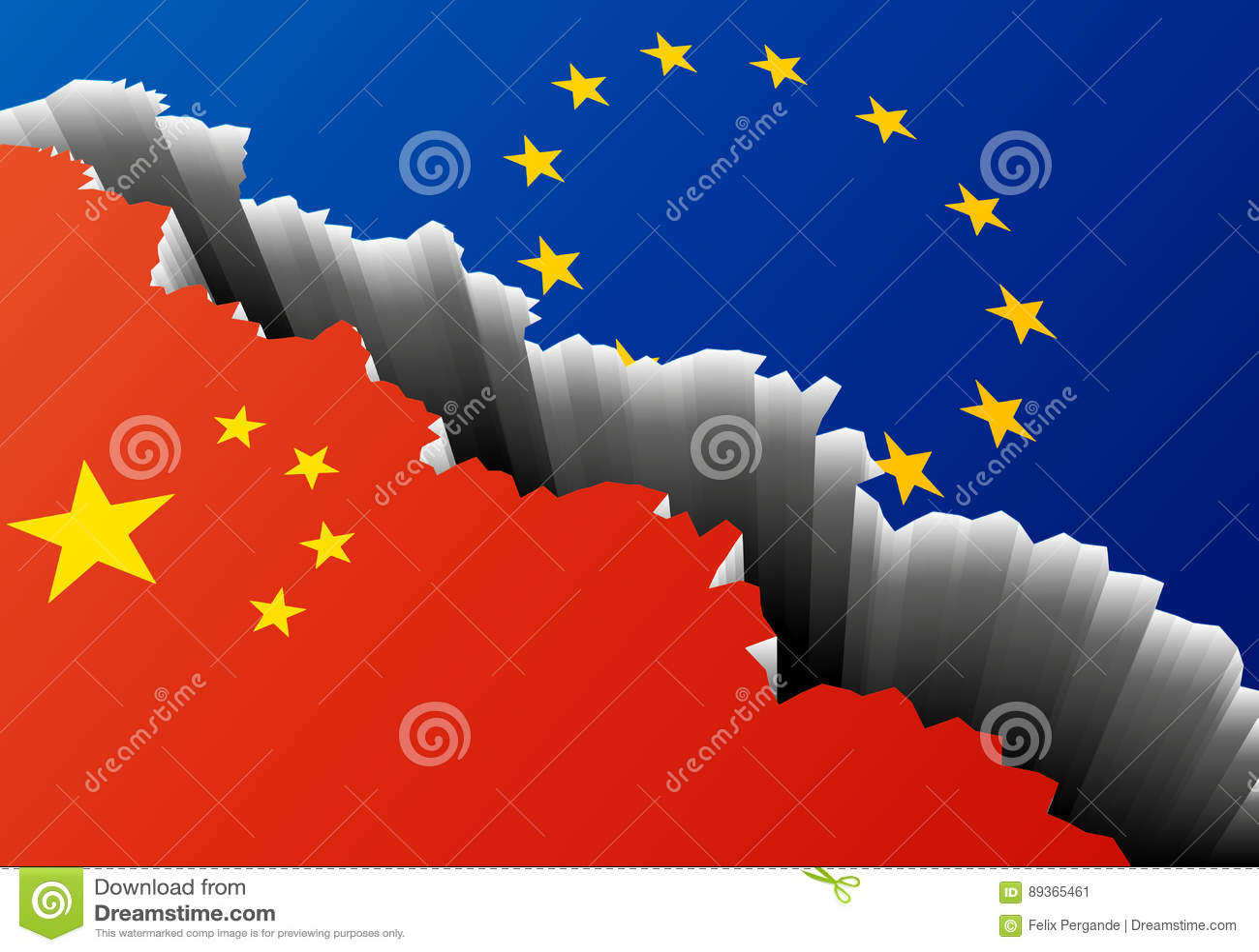Europe China Deep Crack Stock Illustration Illustration Of Fall