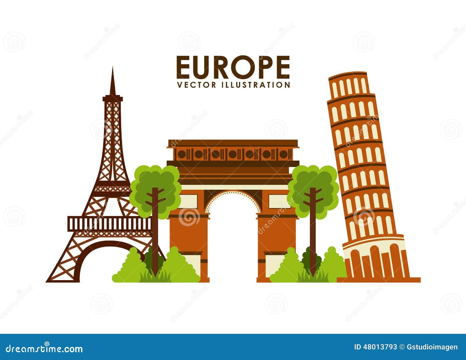Europe design stock illustration image 48013793 for European design