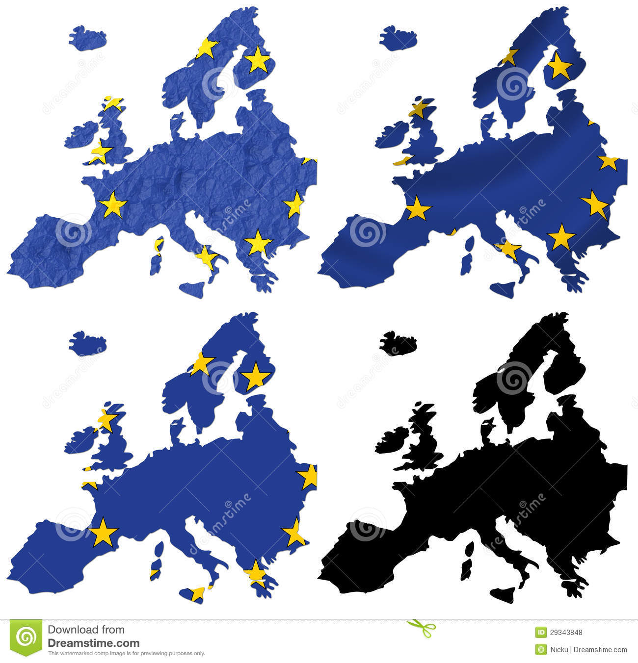 Europe Flag Over Map Collage Royalty Free Stock Photos ...