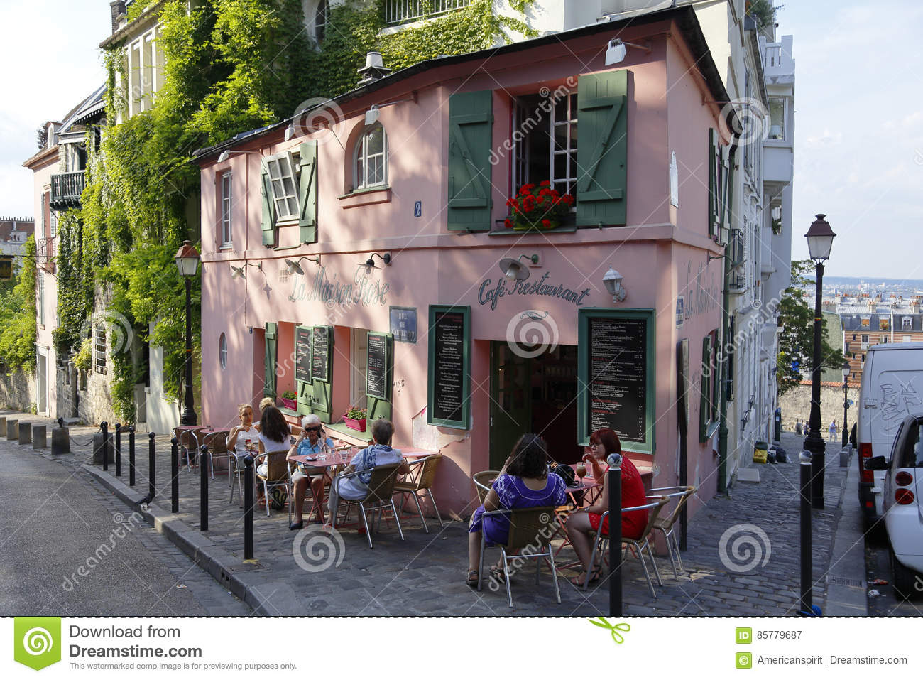 Europe france paris montmartre la maison rose french for La maison rose lourmarin