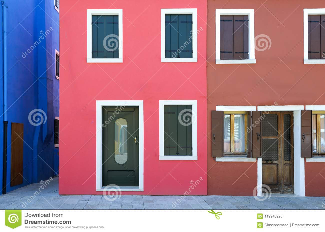 The Colors Of The Burano Islnd Stock Photo - Image of island ...