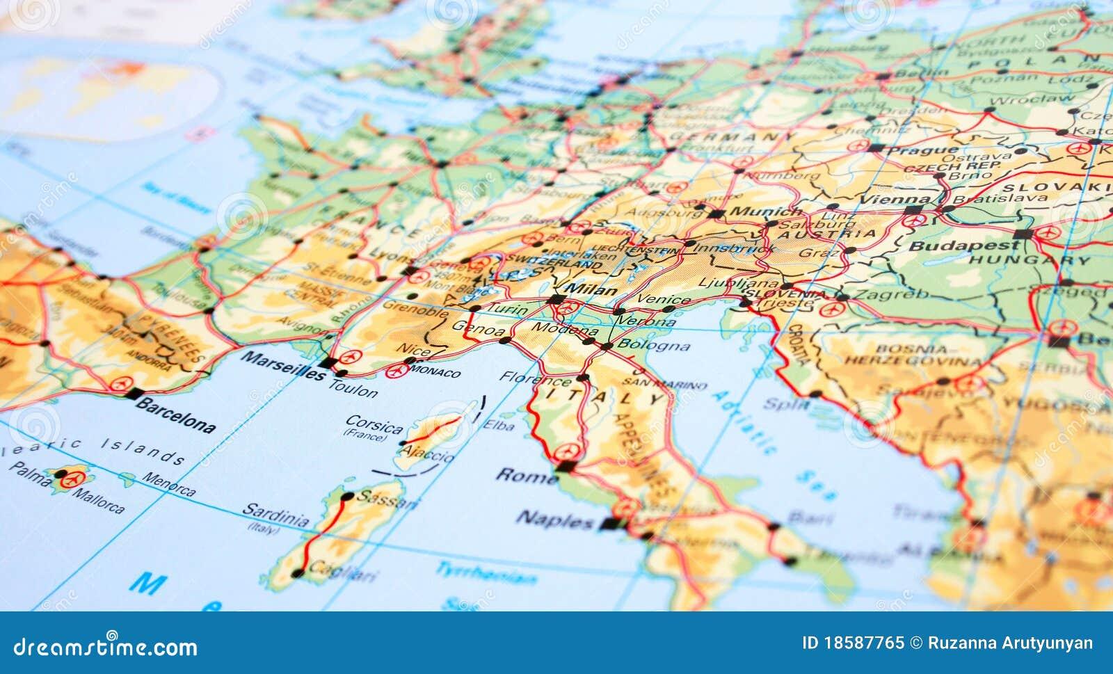 Europe Map Stock Image Image Of Colorful Illustration 18587765