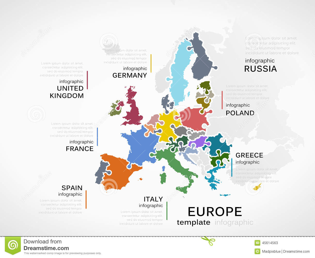europe map stock vector