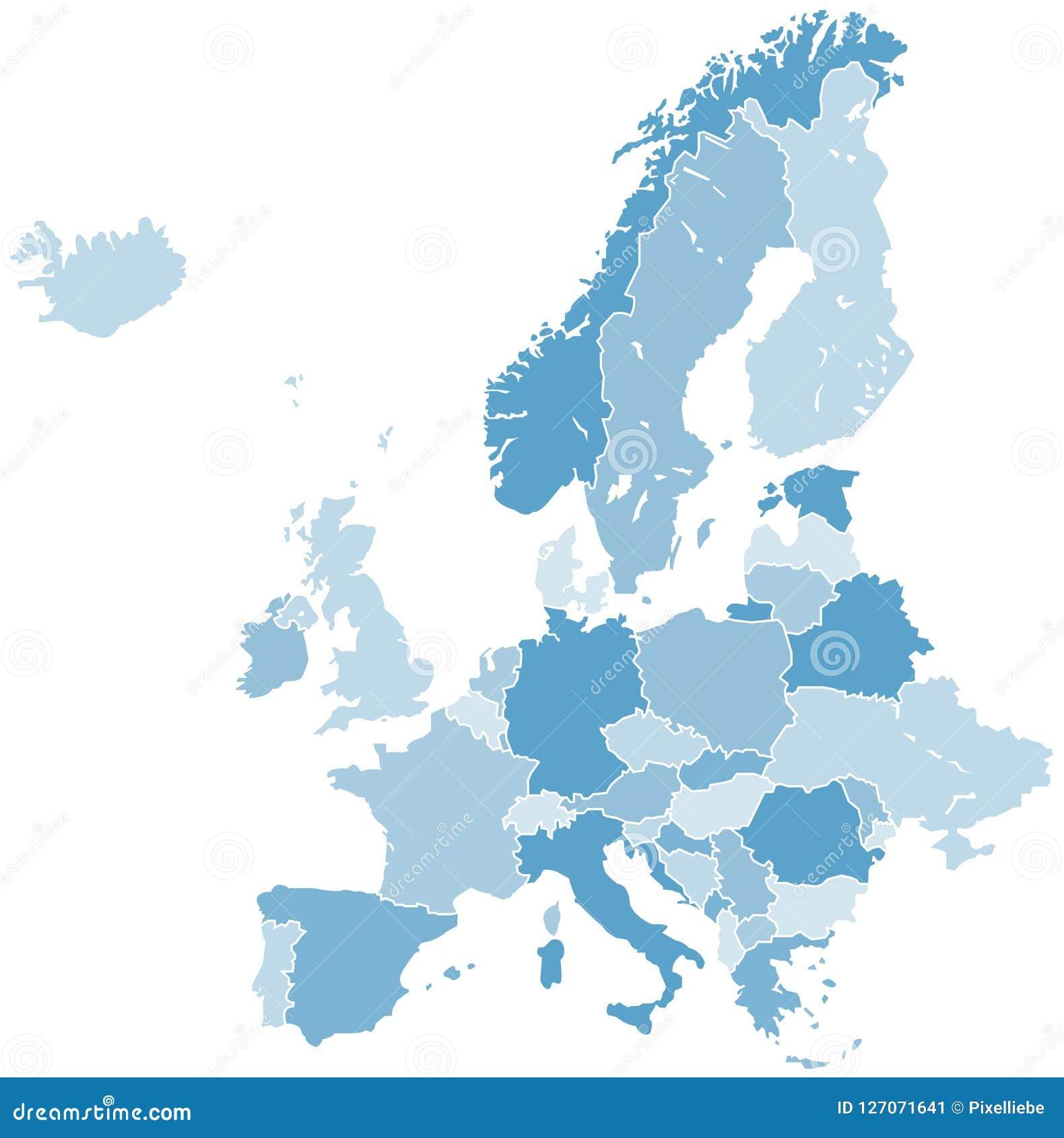 Europe Map Vector Stock Illustration Illustration Of Portugal