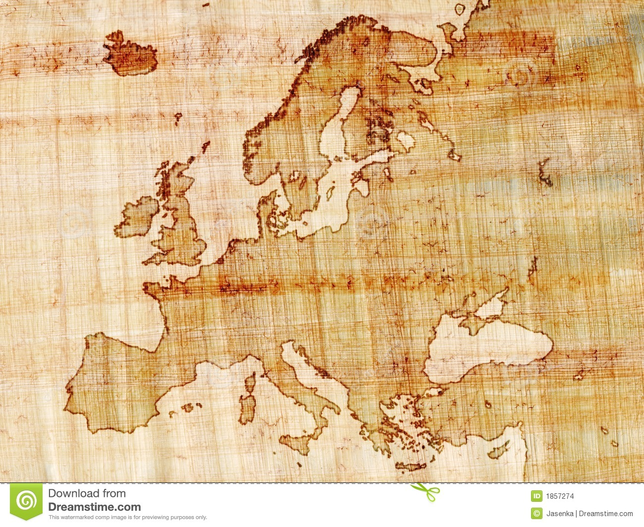 Map Pin In A Map Free Vector Instantshift Beautiful Free: Europe On Papyrus Stock Images