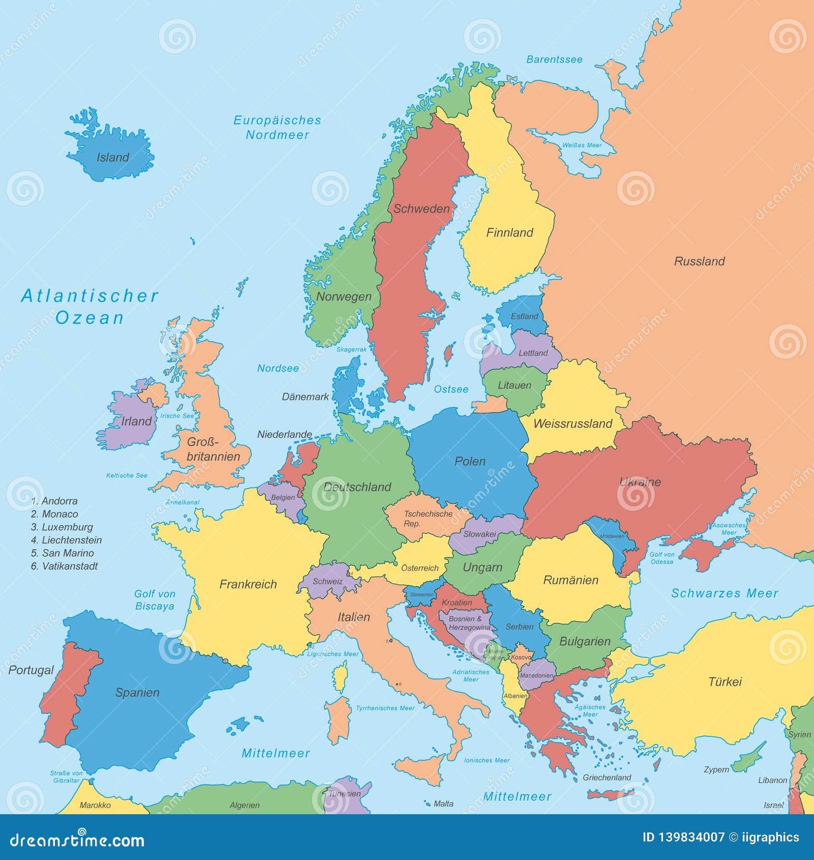 Europe Political Map Of Europe Stock Illustration Illustration