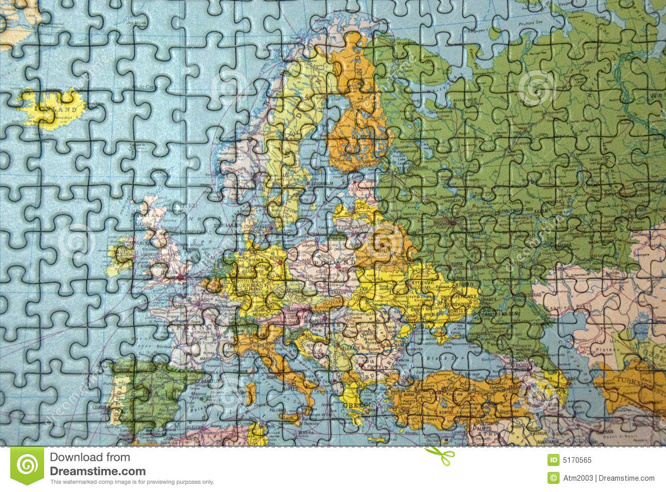 Europe Puzzle Stock Illustration Image Of Abstract