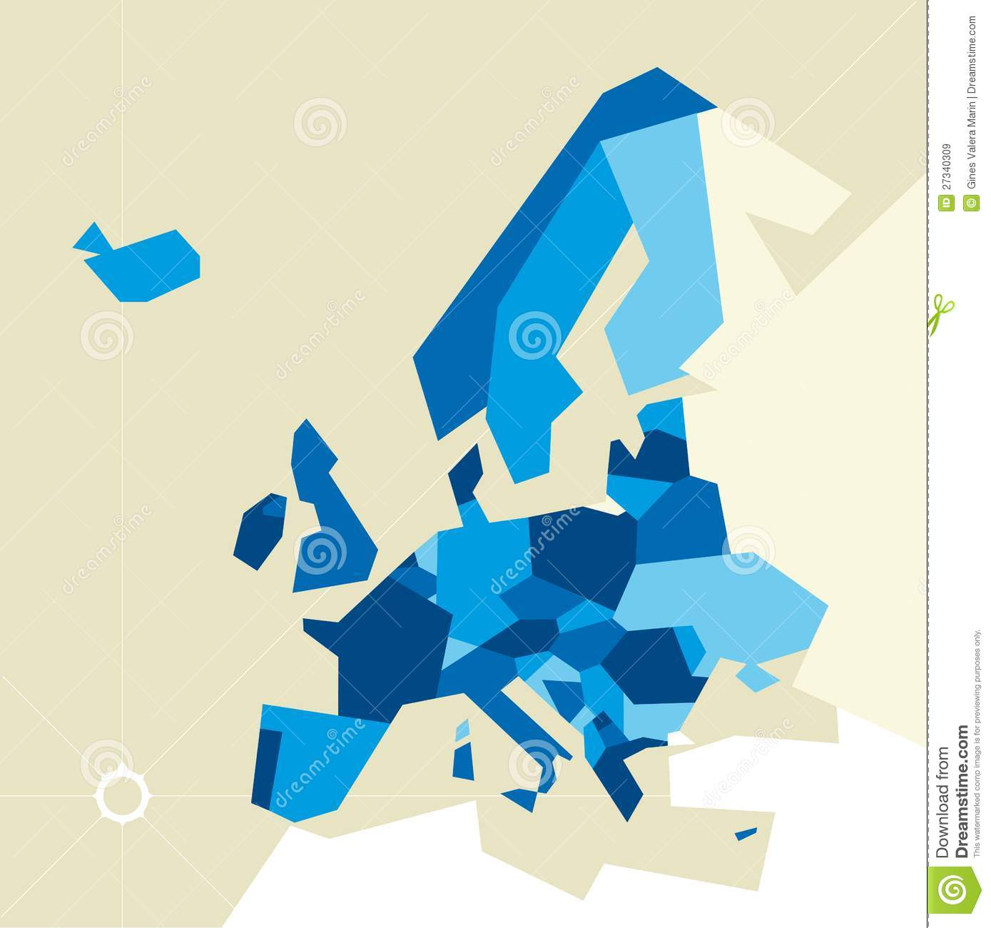 vector illustration of europe - photo #17
