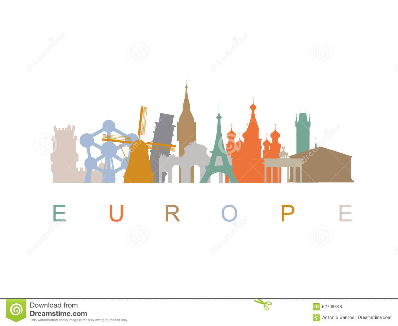 vector illustration of europe - photo #2