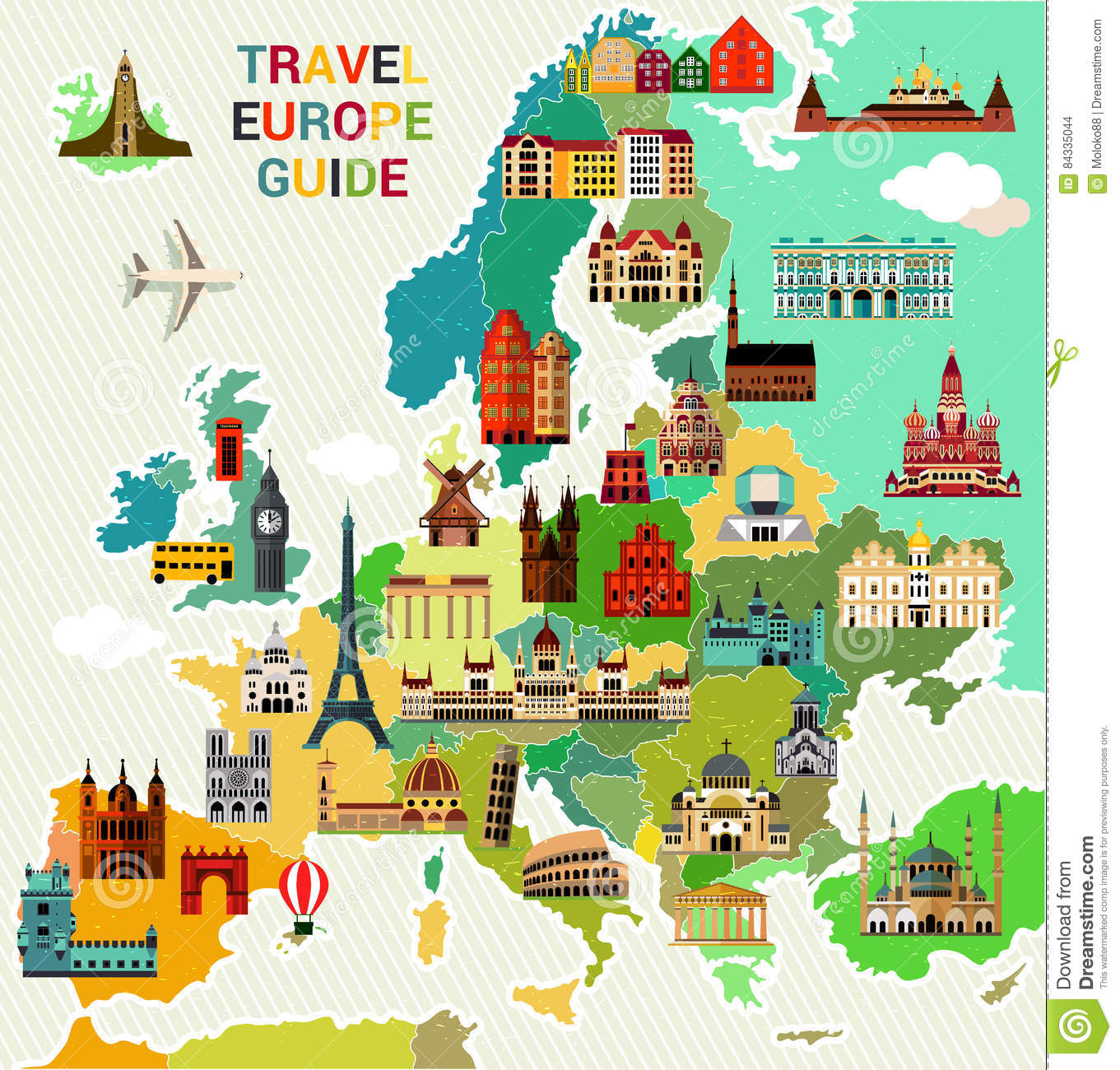 europe travel map stock vector illustration of scandinavia 84335044
