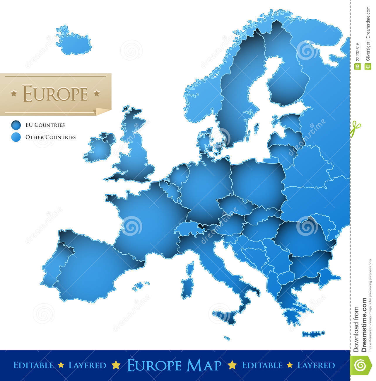 Europe vector map stock vector Image of layered national 22202615