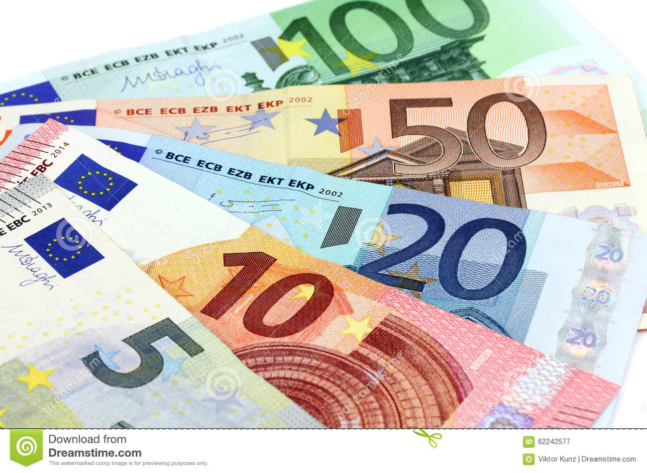 european banknotes euro currency from europe euros stock image